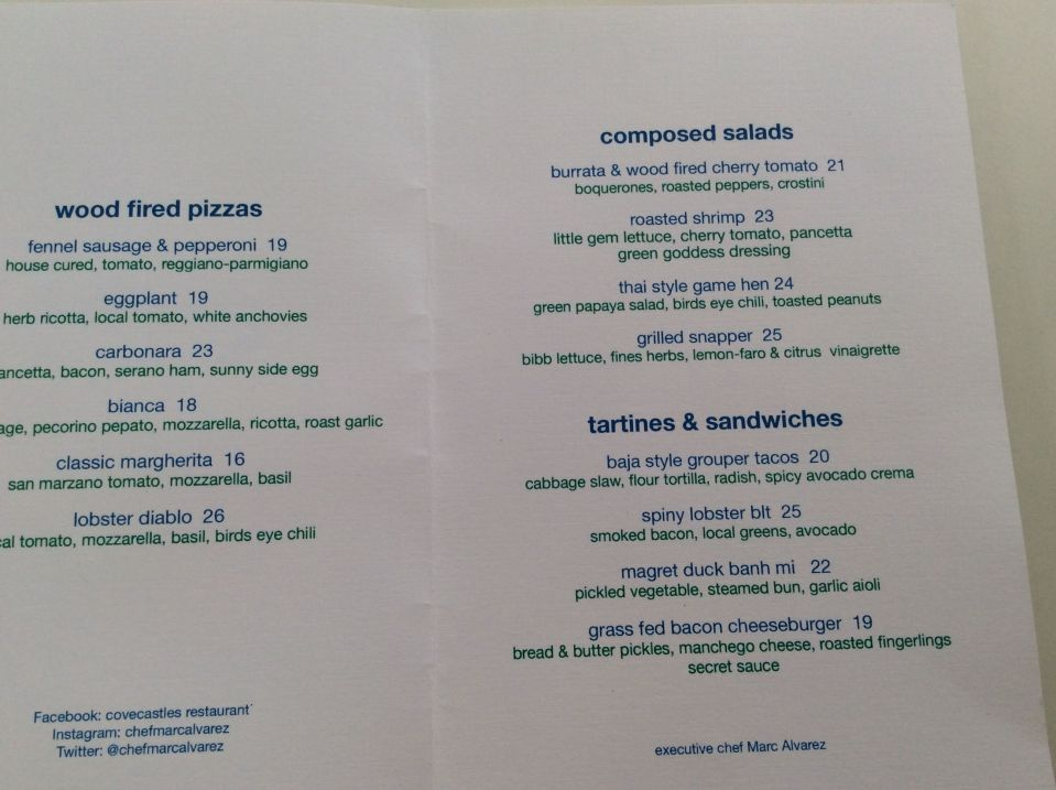 axa 2016 cc lunch menu